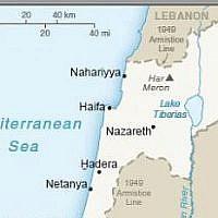 Une partie de la carte publiée par les Etats-Unis le 16 avril 2019, qui montre pour la première fois le Plateau du Golan comme un territoire israélien. (Capture d'écran)