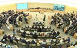 Conseil des Droits de l'Homme à Genève discute d'une résolution condamnant les actions d'Israël sur le Plateau du Golan, le 22 mars 2019. (Copie d'écran Web tv Nations unies)