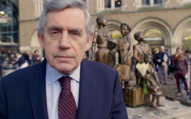 Gordon Brown dans une vidéo visant à encourager des membres du parti Travailliste britannique à lutter contre l'antisémitisme. (Capture d'écran)