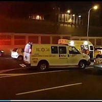 La scène d'un possible accident avec délit de fuite à Jérusalem le 21 avril 2019. (Capture d'écran: Ynet)