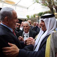 Le Premier ministre Benjamin Netanyahu lors d'une réunion avec des dirigeants arabes israéliens, le 23 mars 2015. (Autorisation)