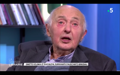 """Elie Buzyn, auteur de """"Ce que je voudrais transmettre"""", sur le plateau de l'émission """"La Grande librairie"""". (France 5)"""