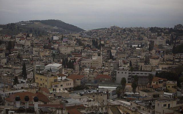 Vue de la ville arabe israélienne de Nazareth, le 26 janvier 2016. (Crédit : Lior Mizrahi/Flash90)