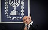 Le Premier ministre Benjamin Netanyahu à la résidence présidentielle pour Yom HaAtsmaout, le 9 mai 2019. (Crédit : Noam Revkin Fenton/Flash90)