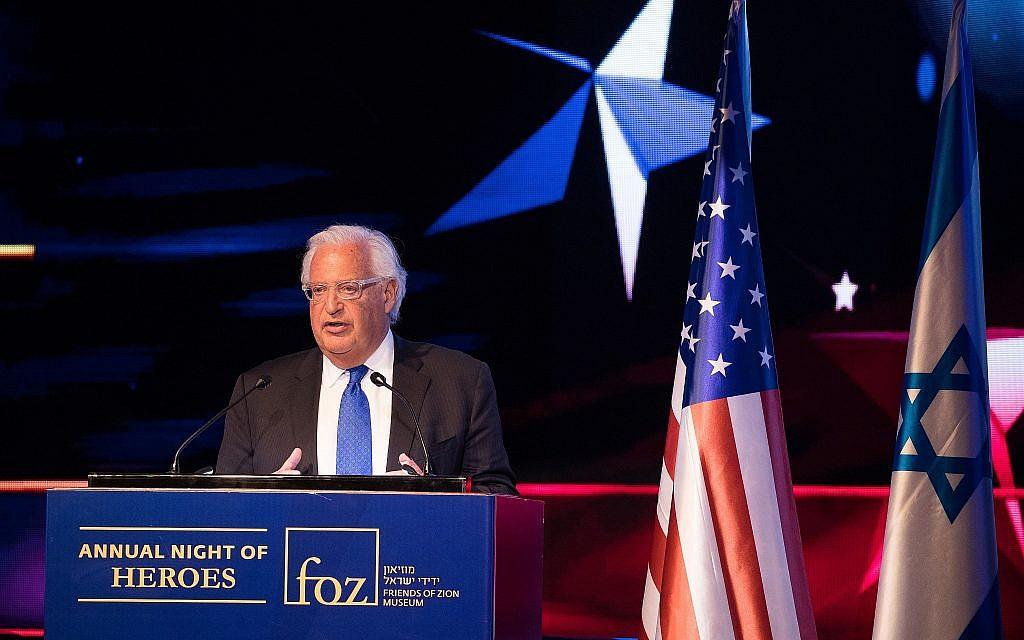Friedman : pas d'évacuations d'implantations dans le plan de paix américain