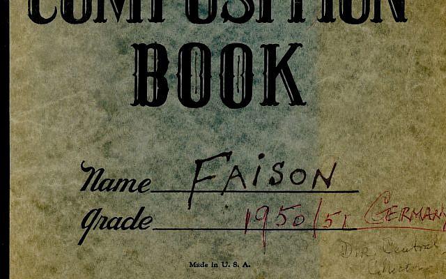Le journal intime de S. Lane Faison, Jr.(Autorisation de la fondation Monuments Men pour la préservation des oeuvres d'art via  JTA)