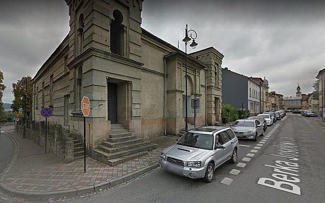 A titre d'illustration : Capture d'écran de la synagogue Nowy Targ, Pologne. (Google maps)