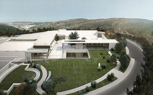 Vue aérienne du Complexe patrimonial des collections de la Shoah, situé sur le Mont du Souvenir à Yad Vashem (Gilad Lan)