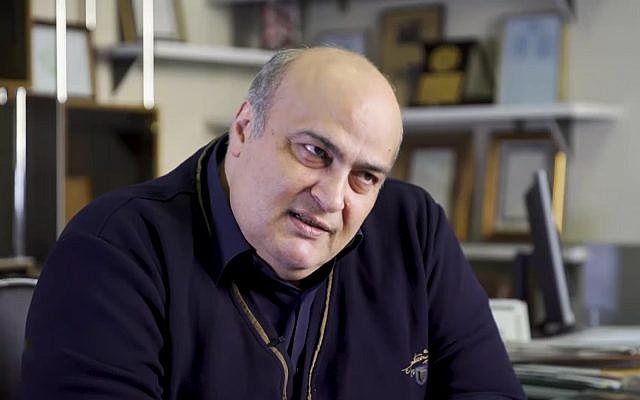 Le député juif iranien et représentant de la communauté juive iranienne Siamak Moreh Sedgh. (Capture d'écran : YouTube)