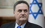 Israel Katz participe à une réunion de cabinet au Bureau du premier ministre à Jérusalem le 17 février 2019. (Sebastian Scheiner/Pool/AFP)