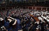 Le président américain Donald Trump prononce son discours de l'Etat de l'Union devant une session commune du Congrès à Capitol Hill à Washington, el 5 février 2019.(AP/J. Scott Applewhite)