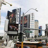Des hôtels sur le 'Strip' à Las Vegas (Crédit: Miriam Alster/FLASH90 )