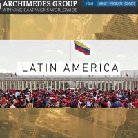 La page d'accueil du site internet du Groupe Archimède, avant le 16 mai.