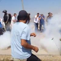 Des résidents de l'implantation cisjordanienne d'Yitzhar s'opposent aux forces de sécurité lors de la démolition d'une construction illégale le 25 juin 2017.  (Capture d'écran: YouTube)