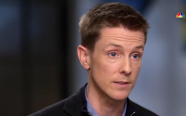 Chris Hughes sur NBC News, le 9 mai 2019 (Crédit : capture d'écran YouTube)
