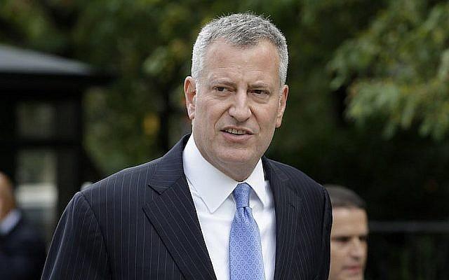 Le maire de New York, Bill de Blasio, à l'hôtel de ville de New York, le 21 septembre 2015. (Seth Wenig/ AP Images)