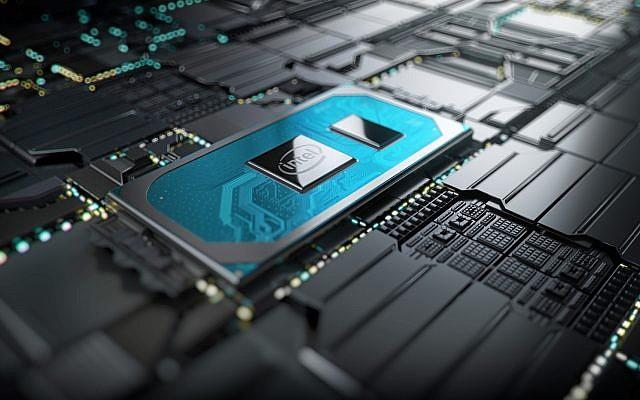 Les nouveaux processeurs Intel Core 10e génération d'Intel Corp. sur une carte mère. (Autorisation)