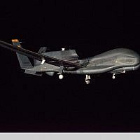 Image d'illustration : un drone Global Hawk du fabricant Northrop Grumman. (GLOBE NEWSWIRE via AP)