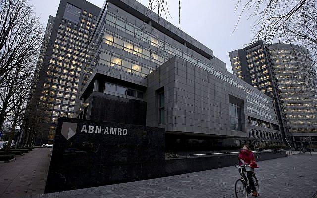 Siège de la banque ABN AMRO à Amsterdam, Pays-Bas, le 28 février 2013. (AP Photo/Peter Dejong)