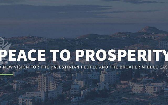 La proposition de paix économique de la Maison Blanche dévoilée sur son site web, le samedi 22 juin 2019. (Capture d'écran)