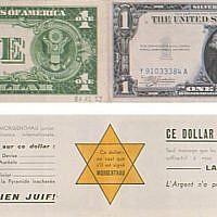 Le Lot 17, un dollar portant des mentions antisémites, prévu à la vente à l'hôtel Drouot le samedi 15 juin. (Droits réservés)