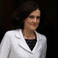 Theresa Villiers, ici à Londres en 2016, a exhorté le gouvernement britannique à reconnaître le sort des réfugiés juifs des pays arabes. (Dan Kitwood/Getty Images)