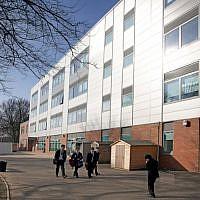 Le lycée King David de Manchester, en Angleterre (Crédit : CC BY-SA, Wikimedia commons)