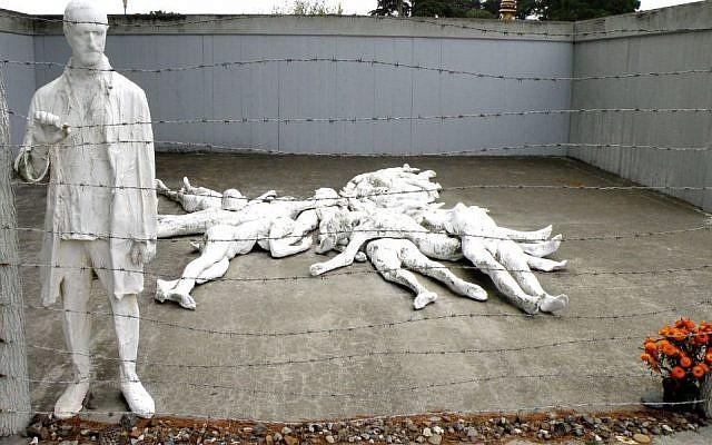 Le mémorial de la Shoah de San Francisco dans le Lincoln Park. (Crédit : Aaron Zhu/ Wikimedia Commons via JTA)