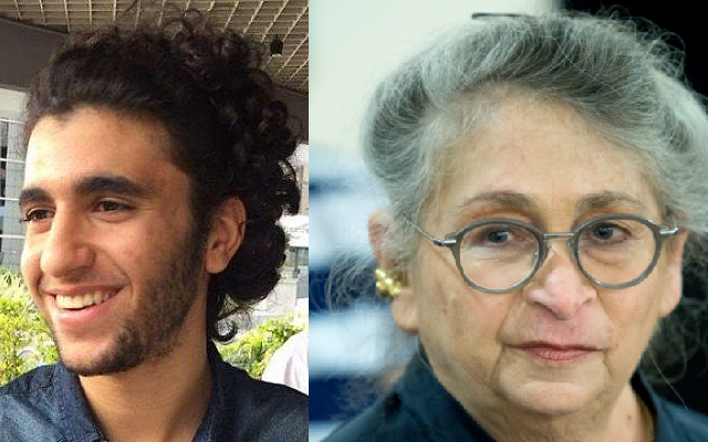 Nechama Rivlin, à droite, épouse de  Reuven Rivlin, le 16 juin 2016 (Crédit : Moshe Shai/FLASH90) Yair Yehezkel Halabli, à gauche, qui a donné son poumon à Rivlin (Crédit : Twitter)