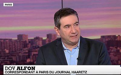 Dov Alfon à la télévision, à Paris (Capture d'écran : YouTube)