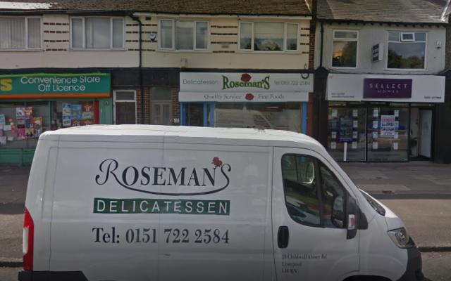 Le traiteur Roseman's Delicatessen à Liverpool, au Royaume-Uni (Google Street View)
