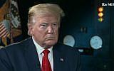 Le président américain Donald Trump dans une interview diffusée par la chaîne britannique ITV, le 5 juin 2019 (Capture d'écran : ITV)