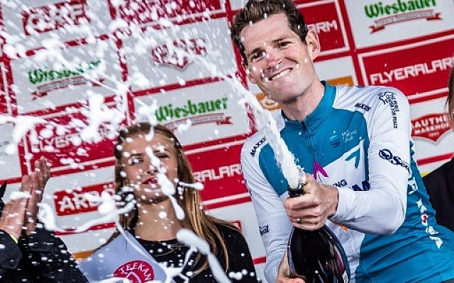Le Belge Ben Hermans de l'équipe Israel Cycling Academy, vainqueur du Tour d'Autriche 2019. (Crédit photo : JFK / EXPA / APA / AFP)