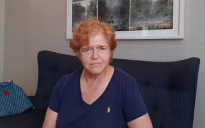 Deborah Lipstadt, historienne basée à Atlanta, à Jérusalem, juillet 2019. (Raphael Ahren/Times of Israel)