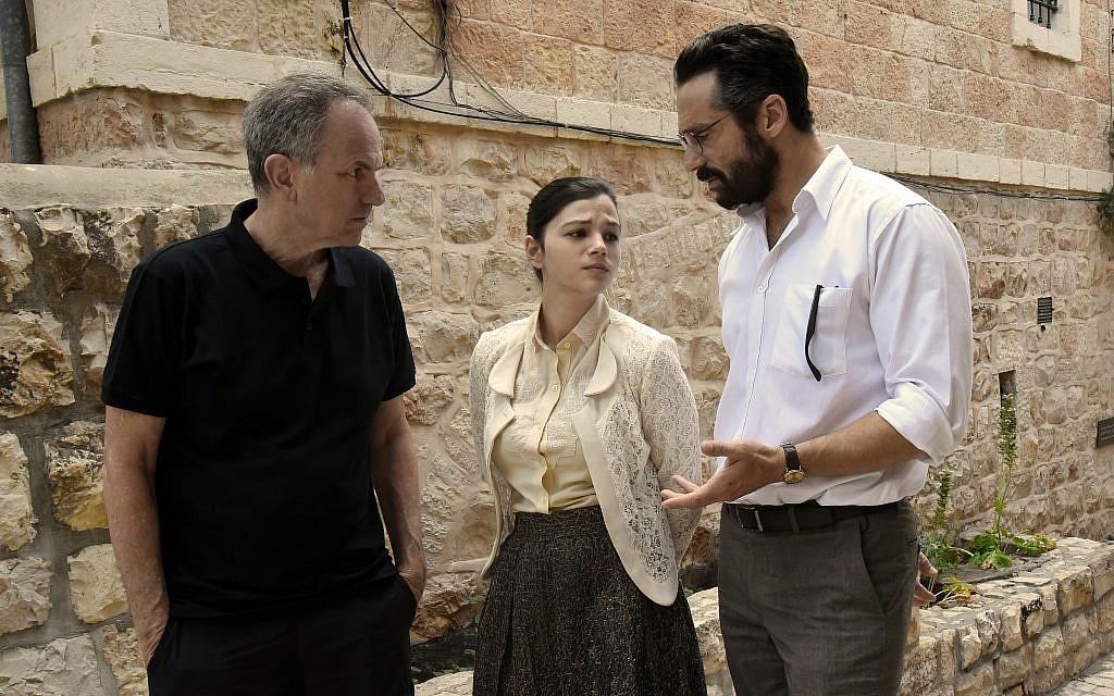 """Le réalisateur Avi Nesher, (à gauche), sur le tournage de """"The Other Story"""". (Iris Nesher)"""