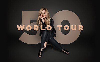 Lara Fabian pour la campagne de promotion de sa tournée «50 World Tour».