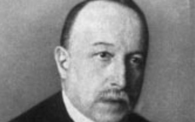 Le chimiste juif allemandGeorg Bredig. (Crédit photo : domaine public)