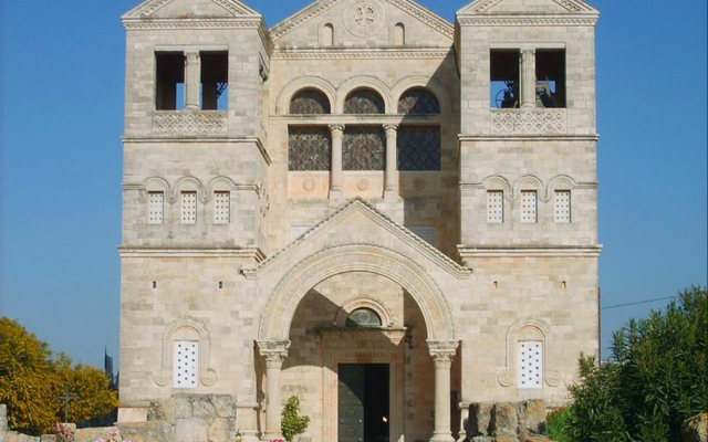 La basilique de la Transfiguration, dans le nord d'Israël. (Crédit photo : gugganij / CC BY-SA 3.0)