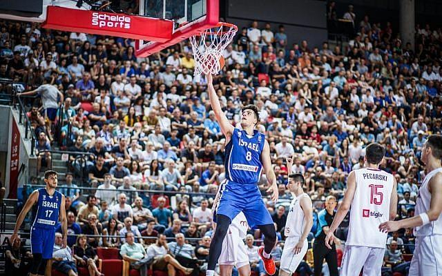 Le joueur israélien Deni Avdija. (Crédit photo : FIBA)