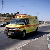 Photo illustrative d'une ambulance appartenant au service d'ambulance Magen David Adom. (Gershon Elinson/Flash90)