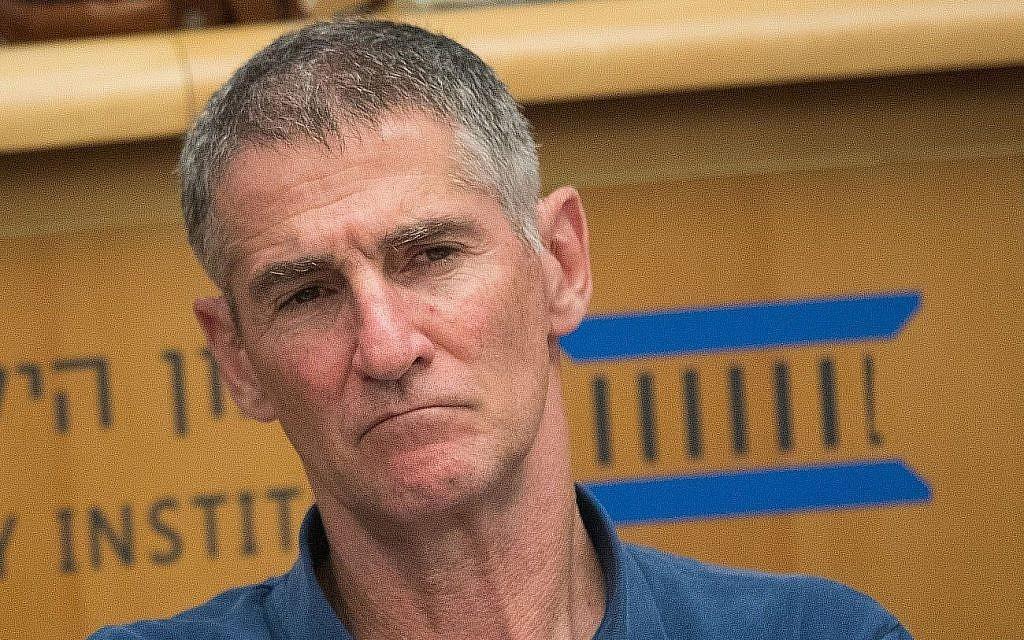 Le Major-général à la retraite Yair Golan lors d'une conférence à l'Institut israélien de la démocratie à Jérusalem. (Autorisation)