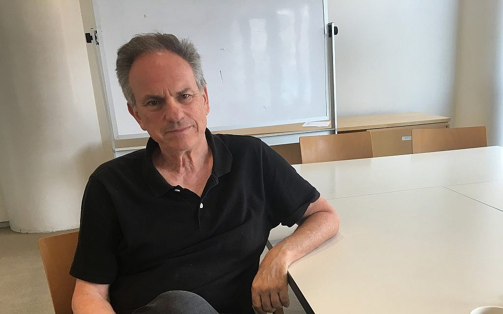 Le réalisateur israélien Avi Nesher au Marlene Meyerson JCC Manhattan dans l'Upper West Side, juin 2019. (Jordan Hoffman/ Times of Israel)