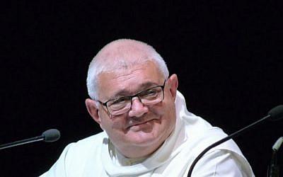 Le Frère Charles, l'abbé d'Abou Gosh. (Crédit photo : Abbaye Notre Dame du Bec-Hellouin)