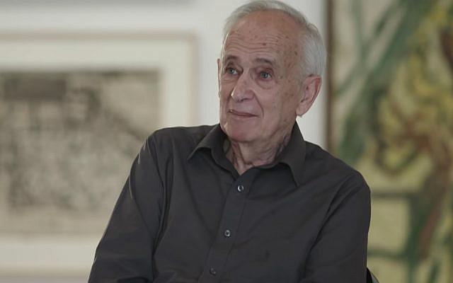 L'artiste britannique, Leon Kossoff. (Crédit : capture écran / YouTube)