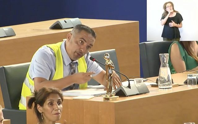 Le responsable municipal français Djamel Boumaaz dans une vidéo postée sur sa page Facebook (Capture d'écran :  Facebook)
