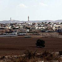 La ville bédouin de Rahat dans le nord du Negev.  (Yossi Zamir/Flash90)