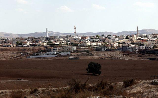 La ville bédouine de Rahat dans le nord du Néguev.  (Yossi Zamir/Flash90)