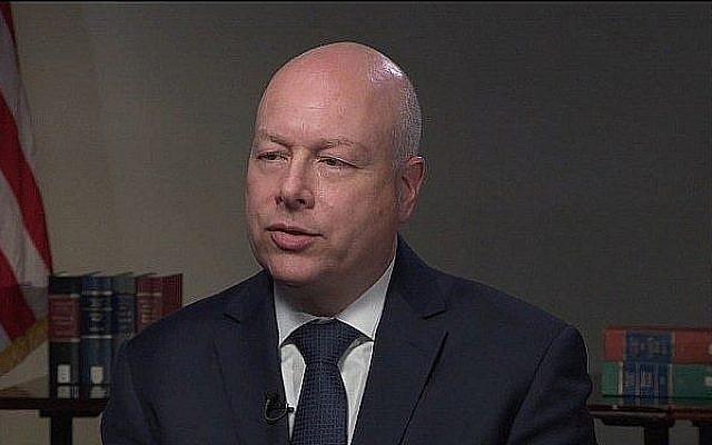 Capture d'écran d'un entretien avec l'envoyé américain pour la paix au Moyen-Orient Jason Greenblatt avec PBS News Hour, diffusée le 17 juillet 2019. (PBS)