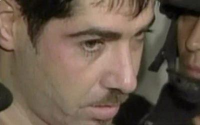 Le boss de la pègre israélienne Ben Suthi extradé de Mexico vers Israël en 2004. (Capture d'écran : Treizième chaîne)