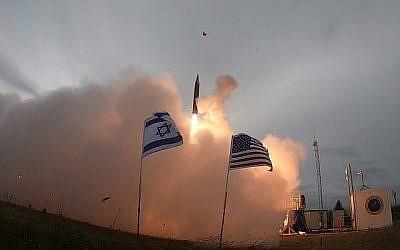 Une image du test de lancement du système de missiles de défense Flèche 3 publiée par le ministère de la Défense le 28 juillet 2019. (Ministère de la Défense)
